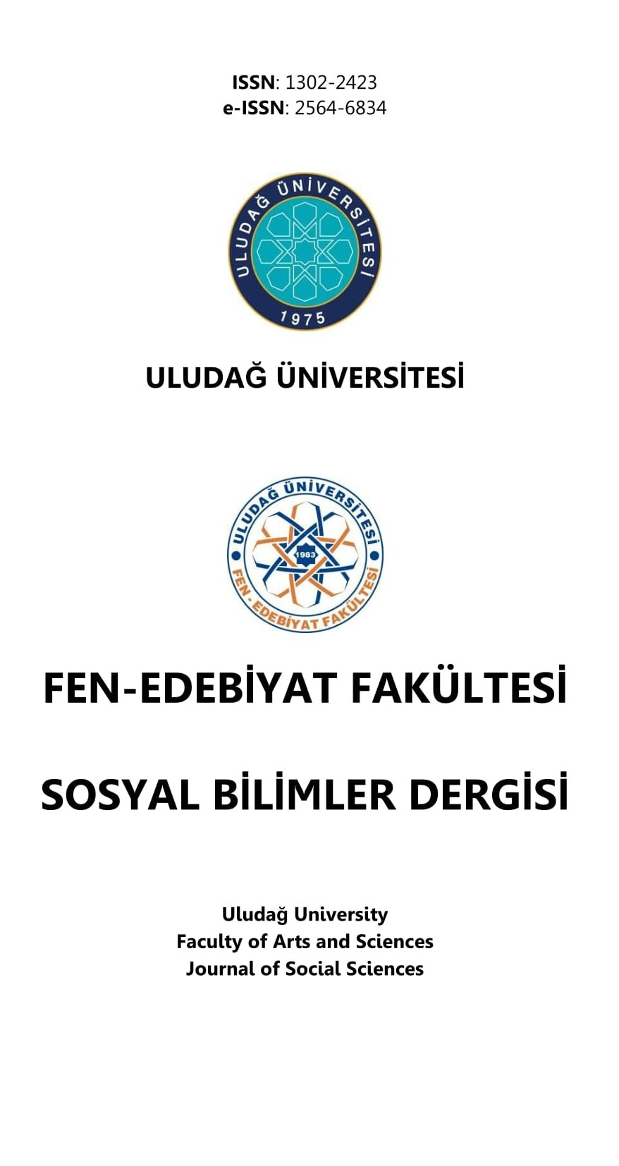 Uludağ University Faculty of Arts and Sciences Journal of Social Sciences